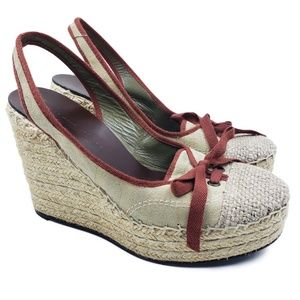 Marc By Marc Jacobs Sling Back Espadrille Wedges